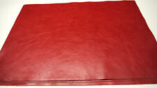 """Large distress Leather panels 4 pieces Top Quality Large 18""""x 24"""" Red"""