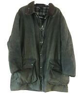 Border Barbour Green Wax Jacket Well Used Large