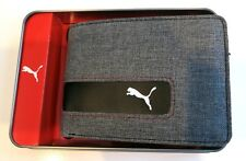 New Puma Active Authentic Sport Bi Fold Street Skater Men's Wallet Gray