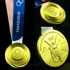Tokyo 2020 Olympic Gold Medal With Ribbon 1:1 Full Size Souvenir Highest Quality
