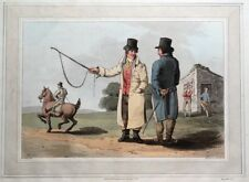 HORSE DEALER, COSTUME OF YORKSHIRE, Walker original antique aquatint print 1814