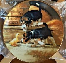 """Puppy Time Plate Collection """"Getting Acqainted� Jim Lamb for Hamilton with Coa"""