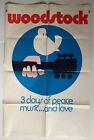 Original Woodstock Poster Arnold Skolnick Dove Guitar 3 Days Peace Music Love 70