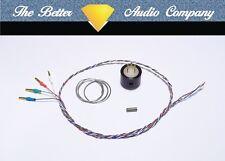 Rega Tonearm Rewire Kit. Fitted Cartridge Tags. Cardas 4x33awg Tonearm Wire