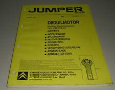Werkstatthandbuch Citroen Jumper 2 Diesel Motor DW12 UTED 2179 ccm Stand 02/2002