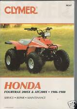 CLYMER HONDA ATC200X FOURTRAX 200SX Service Manual M347 NEW!