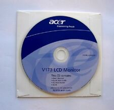 Acer LCD Monitor Driver V173 PC Computer Software Program CD-Rom