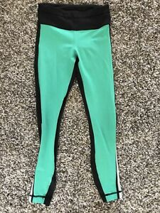 Lululemon Womens Leggings Size 2 Black Green