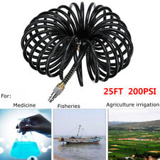 25FT Air Hose Fittings Recoil Pneumatic Airline Compressor 200PSI Quick Coupler