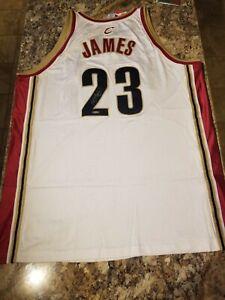 UDA Rookie LeBron James Autographed Authentic 2003 Reebok Cavs White Home Jersey