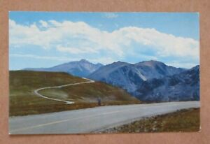 "POST CARD 1960 ""ROCKY MOUNTAIN NATIONAL PARK COLORADO"" w/SLOGAN CANCEL See Pic"