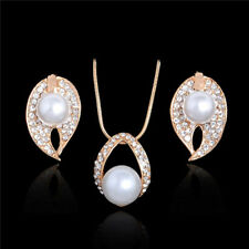 Wholesale Fashion Women Jewelry Set Pearl Necklace+Earrings For Bridal Wedding