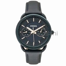Fossil Original ES4092 Women's Tailor Navy Blue Leather Watch 35mm Multifunction