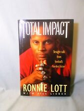 TOTAL IMPACT--SIGNED-RONNIE LOTT--HARDCOVER-SAN FRANCISCO 49ERS- #42-1st edition