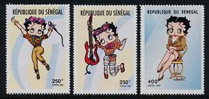 Senegal 1415-7 MNH Betty Boop, Cartoon, Music