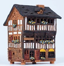Ceramic house tea light holder 'House in the St. Michel, France', 13cm, © Midene