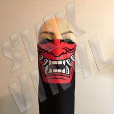 Japanese Hannya bandana face mask dust mask red & white screen print