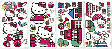 32 New HELLO KITTY WORLD WALL DECALS Stickers Girls Pink Bedroom Decorations