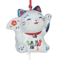 Feliz Japonés Lucky Cat Carillón de Viento