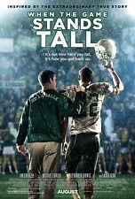 WHEN THE GAME STANDS TALL (2014) 11x17 PROMO MOVIE POSTER - DE LA SALLE ~MINT