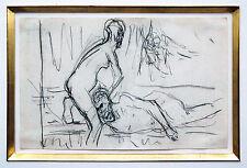 Érotique Max Lieberman 1847-1935 Samson Dalila/Delilah Craie 1902/1909 expertise
