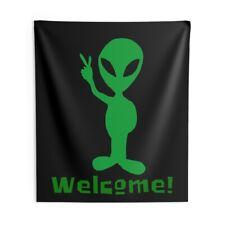 Welcome Alien, Indoor Wall Tapestry
