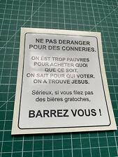 Sticker do not disturb mailbox - 12x10cm-sticker