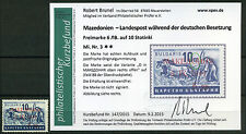 Mazedonien 6L/10St. Aufdruck 1944** Michel 3 Befund Aufdruckfehler (S10594)