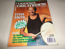 MODERN DRUMMER MAGAZINE-STEVE SMITH FEBRUARY 1993-EUC