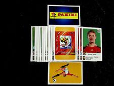 Panini WM 2010 alle 80 Update Extra Sticker Sondersticker komplett South Afrika