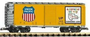 PIKO G SCALE UP STEEL BOXCAR 120152, ARMOUR YELLOW BN 38831