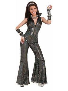 Women's Disco Dancer Jumpsuit Costume