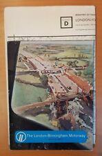 More details for london-birmingham motorway (m1). laing construction magazine & 4 maps. 1959