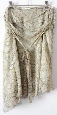 PORTMANS Skirt Sz 12 Medium Green White A Line Circle Chiffon Asymmentrical
