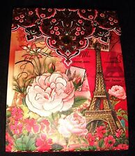 Punch Studio Paper Notepad Jeweled Paris Red Roses Magnetic 66351 Note Pad