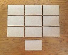 10 x MDF Wooden SMALL PLAQUES signs blank craft shapes rectangles card making