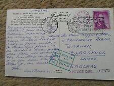 POSTCARD.GRAND CANYON NATIONAL PARK ARIZONA.POSTED 1964 NICE POSTMARK POSTED DUE
