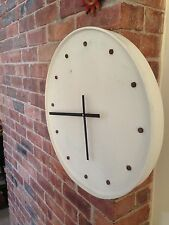 Giant Rustic Shabby Chic Wall Clock - Scrap Art - Handmade - Recycled - Leeds