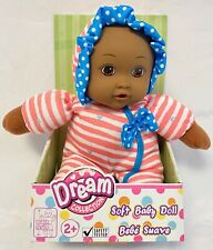 """Gigo Dream Collection Soft 10"""" AA (African American) Baby Doll 2+ Bow Teal Heart"""