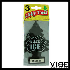 Little Trees Car Home Office Hanging Air Freshener Black Ice (Pack of 3)