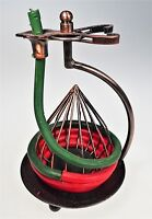 Red Green Coil Rope Candle Holder Christmas Holiday Beeswax with Refill