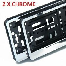 2x GLOSS CHROME Number Plate Surrounds Holders Frame for Van