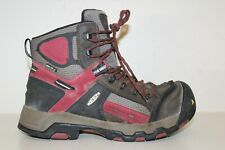 Keen Dry Mens Work Boots Sz 9 D Waterproof Industrial Steel Toe Brown Lace Up