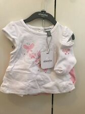 Absorba Baby Girl's Shirt And Shirt Set With Socks Sz 0-3 Months NEW WITH TAGS