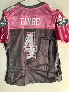 Reebok Women's NFL Jersey New York Jets Brett Favre Pink Flirt sz M