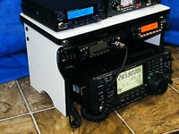 CB Radio Bench Mount Rack Stack or Holder Ham Radio  Amplifier Antenna Mike 2