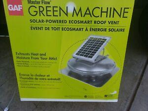 GAF Green Machine Roof Mounted solar Powered Attic Fan