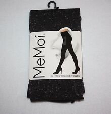 MeMoi GLITTER OPAQUE TIGHTS CONTROL TOP SIZE MEDIUM/LARGE LUXURIOUS LEGWEAR