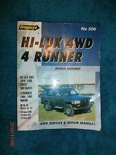 Toyota Hi-Lux 4 Runner Petrol (1979-89) by Gregory's No. 506 (PB) repair manual