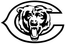 (2) Chicago Bears Vinyl Sticker Decal Car Window white